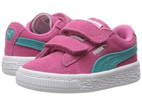 Puma Kids Suede 2 Straps Inf (Toddler) - Shocking Pink/Navigate