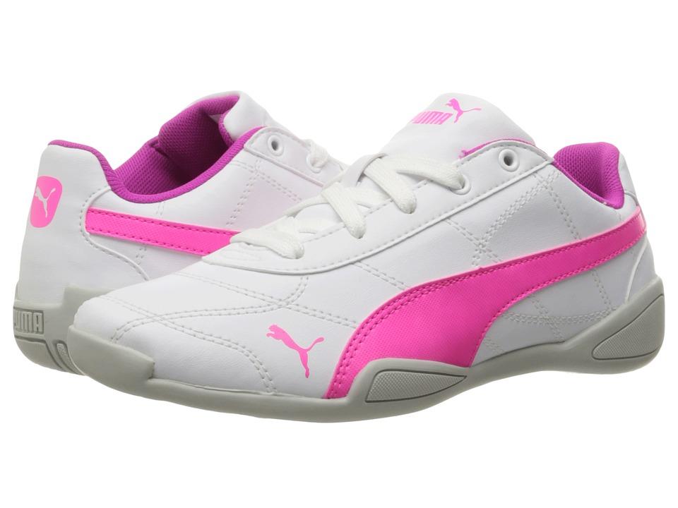 Puma Kids - Tune Cat 3 PS (Little Kid/Big Kid) (Puma White/Knockout Pink) Girls Shoes