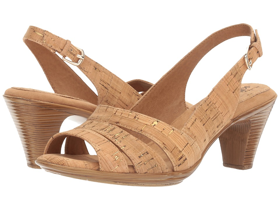 Comfortiva - Neima - Soft Spots (Gold Cork) Womens Dress Sandals