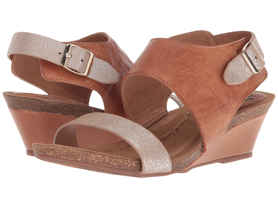 Sofft Vanita (Luggage/Silver Oyster/Metal Foil Cow) Wedges