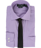 LAUREN Ralph Lauren - Poplin Stripes Spread Collar Classic Button Down Shirt