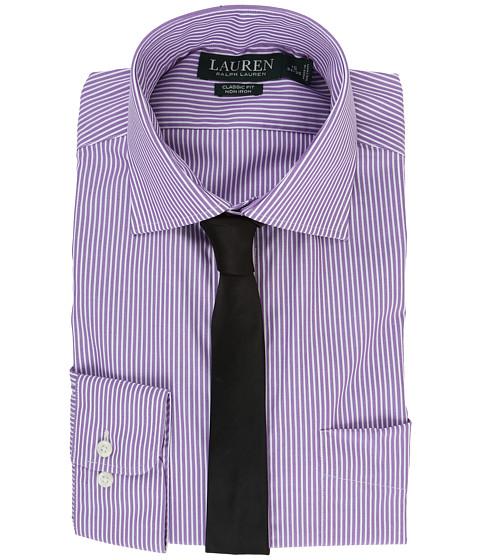 LAUREN Ralph Lauren Poplin Stripes Spread Collar Classic Button Down Shirt