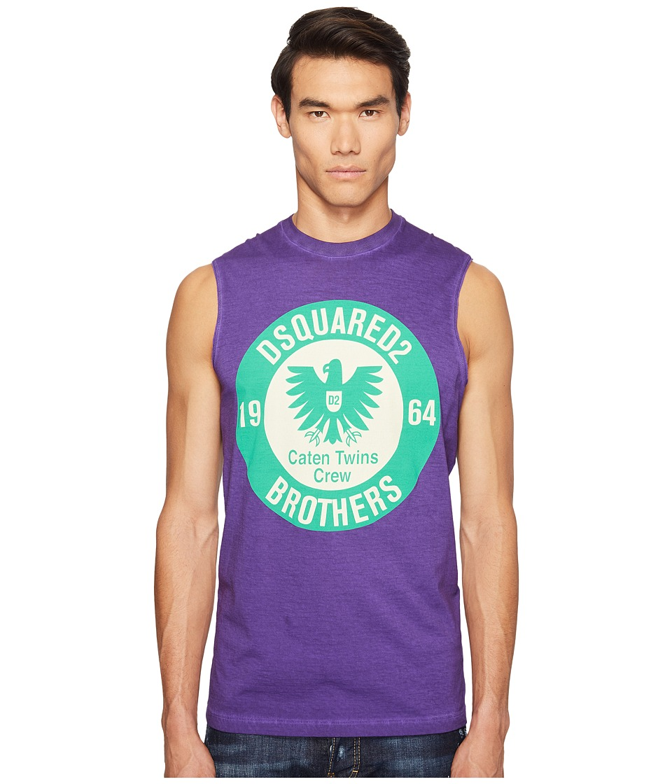 DSQUARED2 Military Glam Sleeveless T-Shirt (Purple) Men