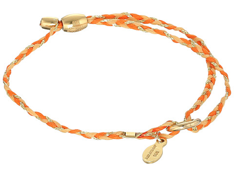Alex and Ani Orange Precious Threads Bracelet - Gold Finish