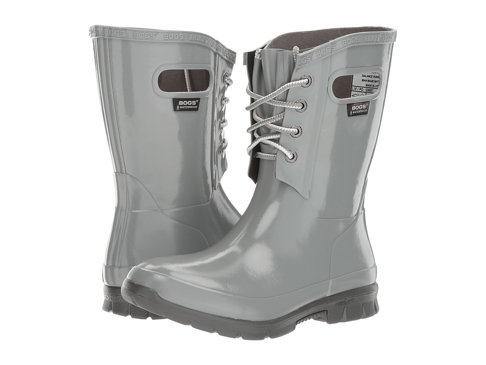 Bogs Amanda 4-Eye Boot (Gray) Women
