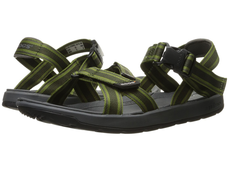 Bogs Rio Sandal Stripes (Dark Green Multi) Men