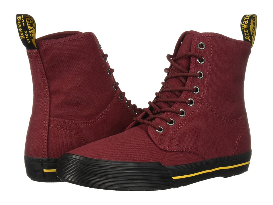 Dr. Martens Winsted (Cherry Red Canvas) Men