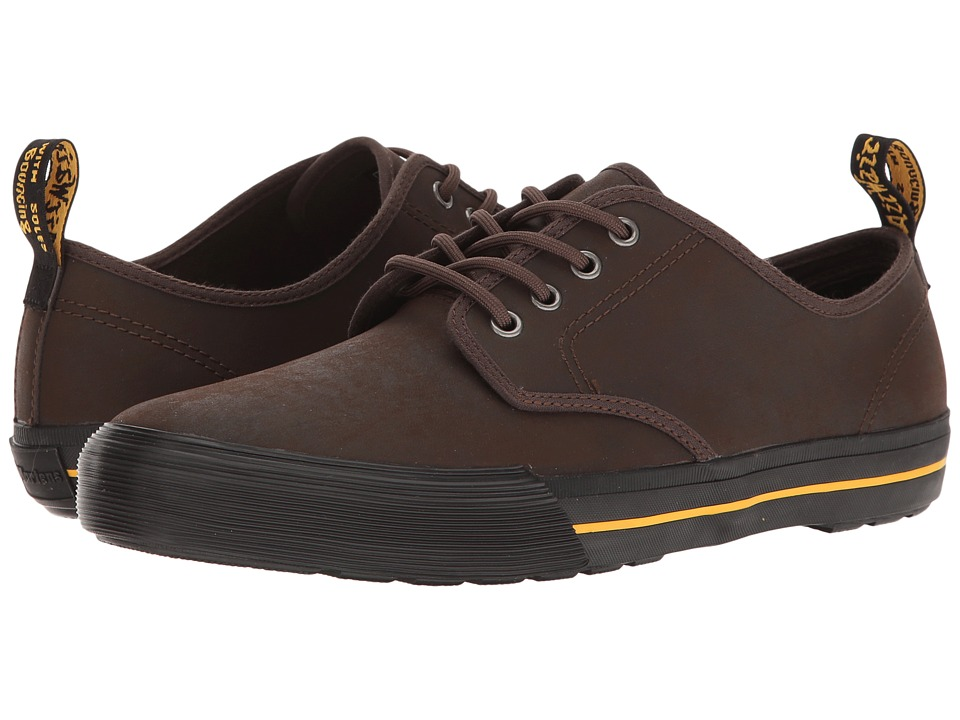 Dr. Martens Pressler (Dark Brown Greasy Lamper Vulc/Mohawk Synthetic) Men