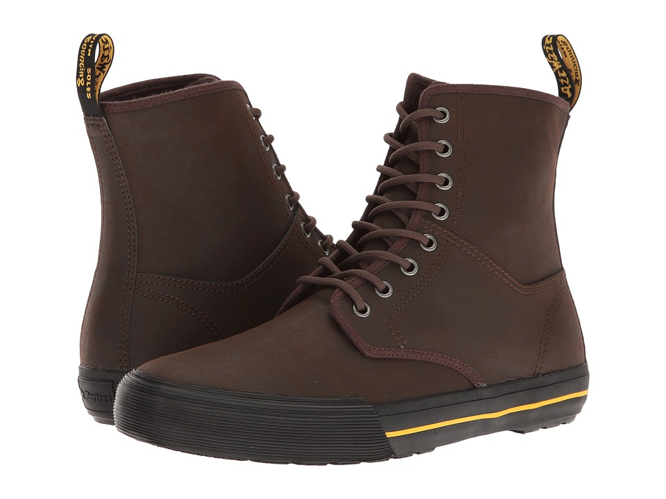 Dr. Martens Winsted (Dark Brown Greasy Lamper Vulc/Mohawk Synthetic) Men