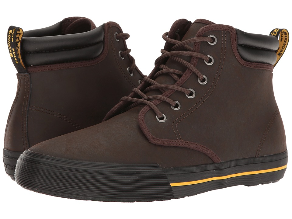Dr. Martens Eason (Dark Brown Greasy Lamper Vulc/Mohawk Synthetic) Men