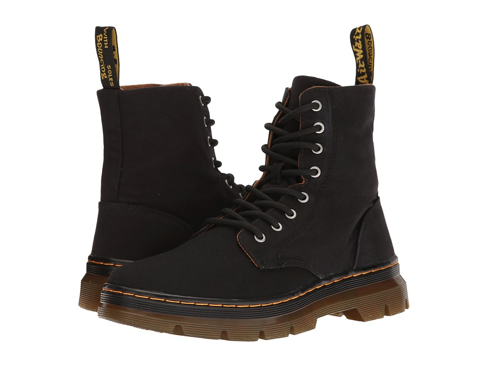 Dr. Martens Combs (Black Canvas) Boots