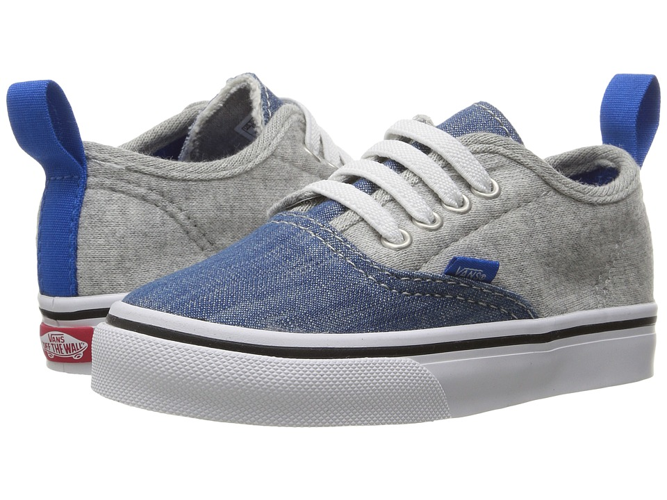 Vans Kids Authentic V Lace (Toddler) ((Jersey & Denim) Imperial Blue/True White) Boys Shoes