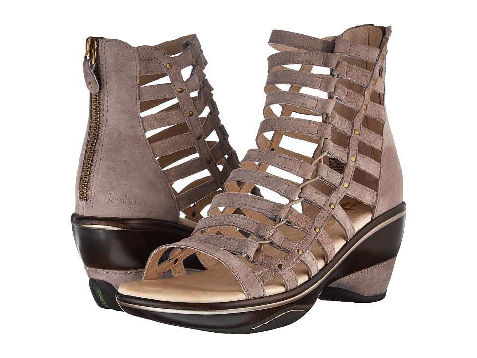 Jambu - Brookline (Light Taupe Solid) Womens Wedge Shoes