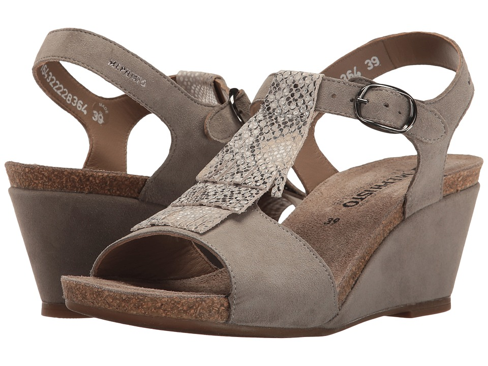 Mephisto Jenny (Light Grey Velcalf Premium/Sand Boa) Women