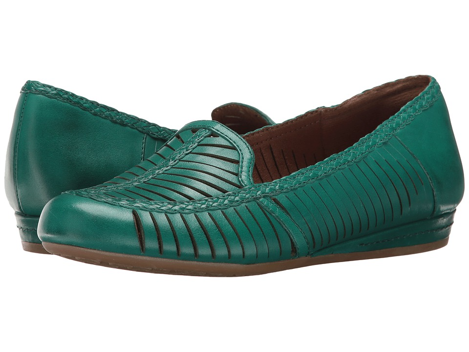 Rockport Cobb Hill Collection Cobb Hill Galway Woven Loafer (Teal Leather) Women