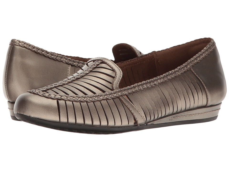 Rockport Cobb Hill Collection Cobb Hill Galway Woven Loafer (Pewter Leather) Women