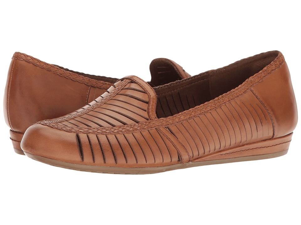 Rockport Cobb Hill Collection Cobb Hill Galway Woven Loafer (Tan Leather) Women