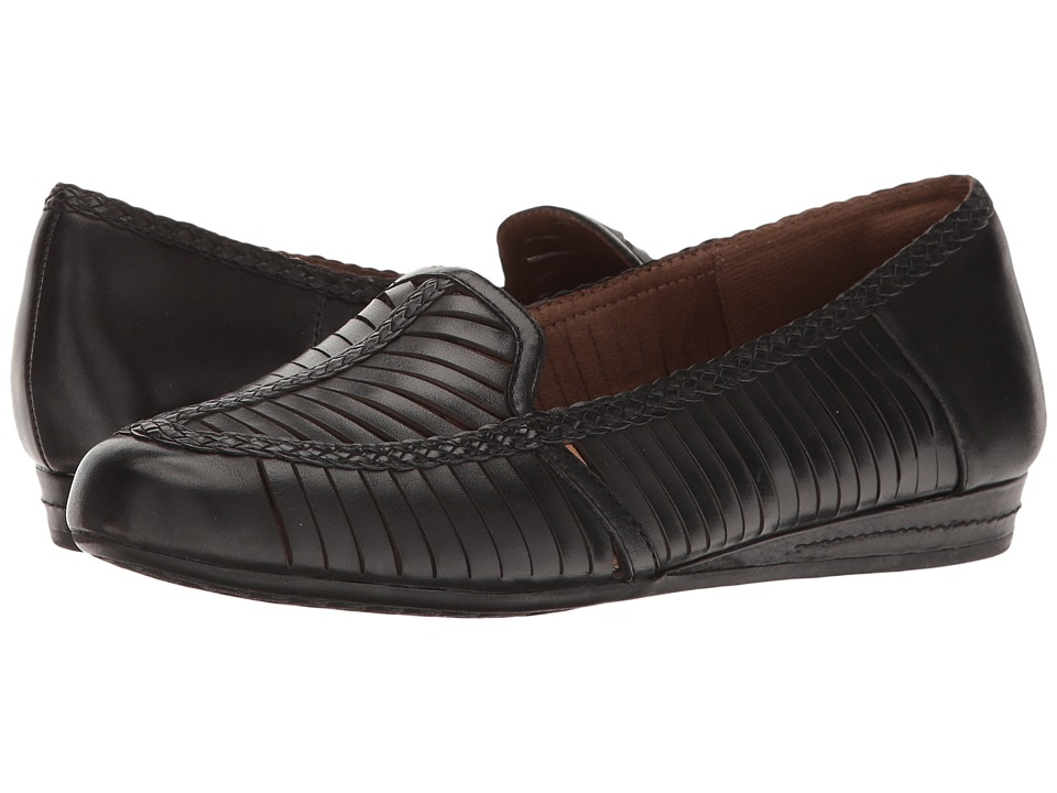 Rockport Cobb Hill Collection Cobb Hill Galway Woven Loafer (Black Leather) Women
