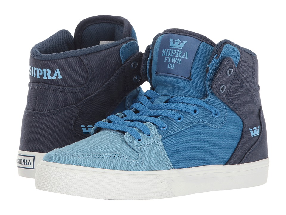 Supra Kids - Vaider (Little Kid/Big Kid) (Blue Gradient/White) Boys Shoes