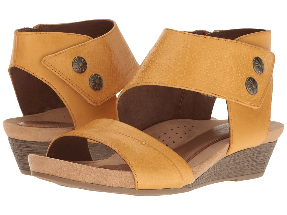 Rockport Cobb Hill Collection - Cobb Hill Hollywood Two-Piece Cuff (Yellow Leather) Womens Sandals