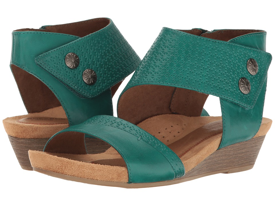 Rockport Cobb Hill Collection Cobb Hill Hollywood Two-Piece Cuff (Teal Leather) Women