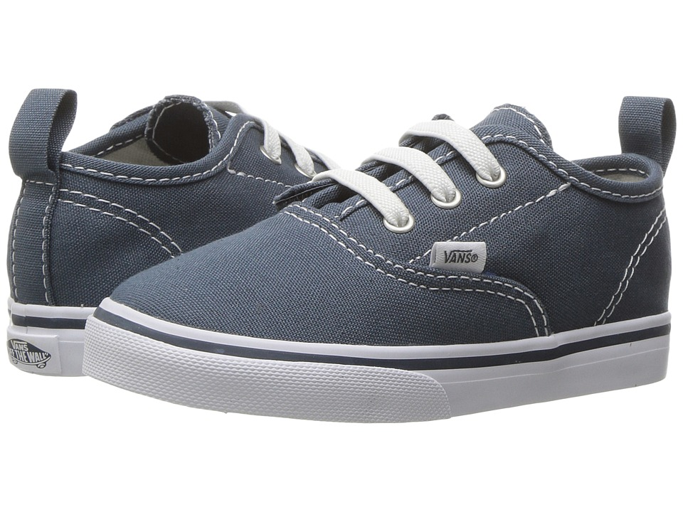 Vans Kids Authentic V Lace (Toddler) ((Canvas) Dark Slate/True White) Boys Shoes