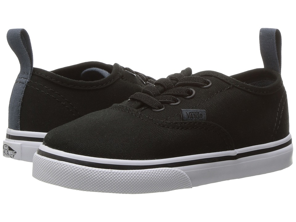 Vans Kids Authentic Elastic Lace (Toddler) ((Canvas) Black/Dark Slate) Boys Shoes
