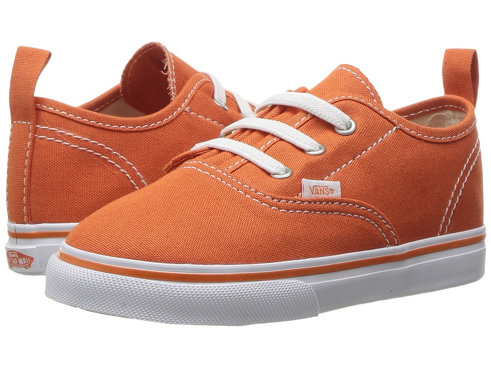 Vans Kids Authentic V Lace (Toddler) ((Canvas) Harvest Pumpkin/True White) Boys Shoes