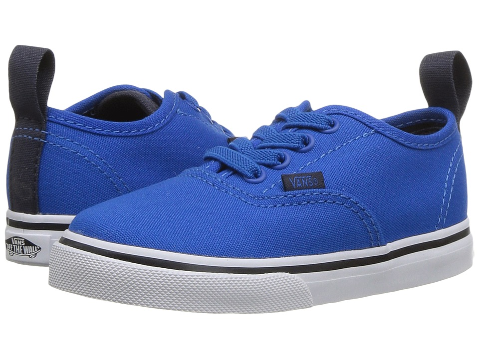 Vans Kids Authentic Elastic Lace (Toddler) ((Canvas) Imperial Blue/Parisian Night) Boys Shoes