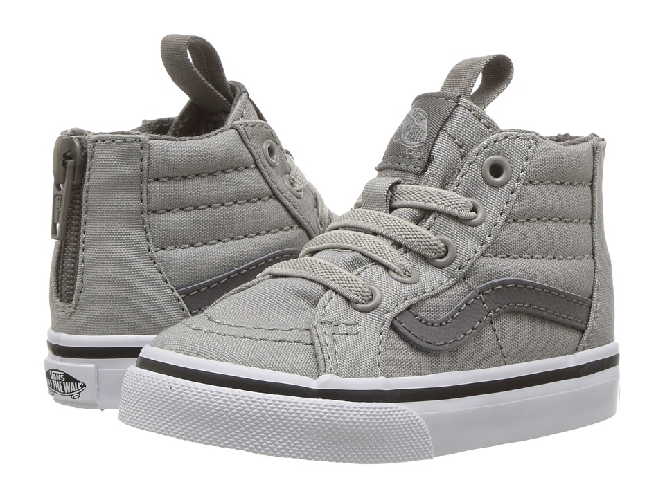 Vans Kids Sk8-Hi Zip (Toddler) ((Canvas) Drizzle/Charcoal Gray) Boys Shoes