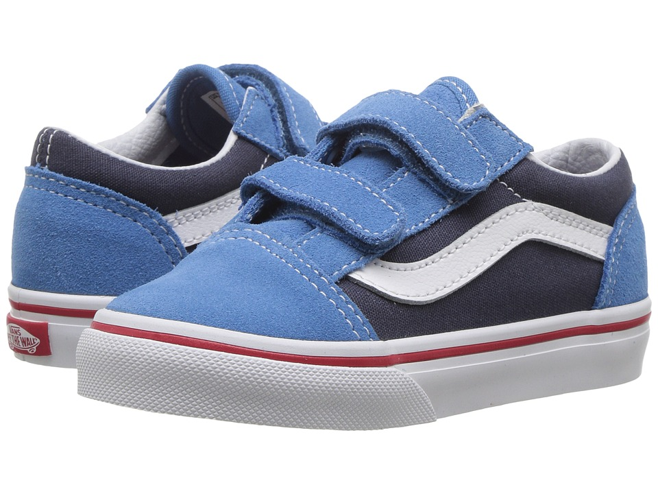 Vans Kids Old Skool V (Toddler) ((Two-Tone) Cendre Blue/Parisian Night) Boys Shoes