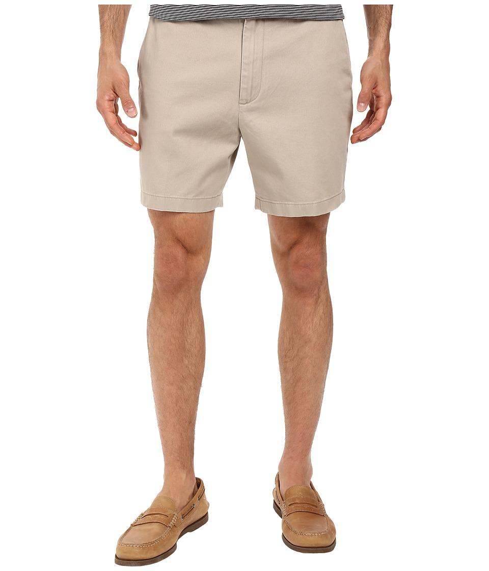 Nautica Shorter Flat Front Shorts (True Khaki) Men