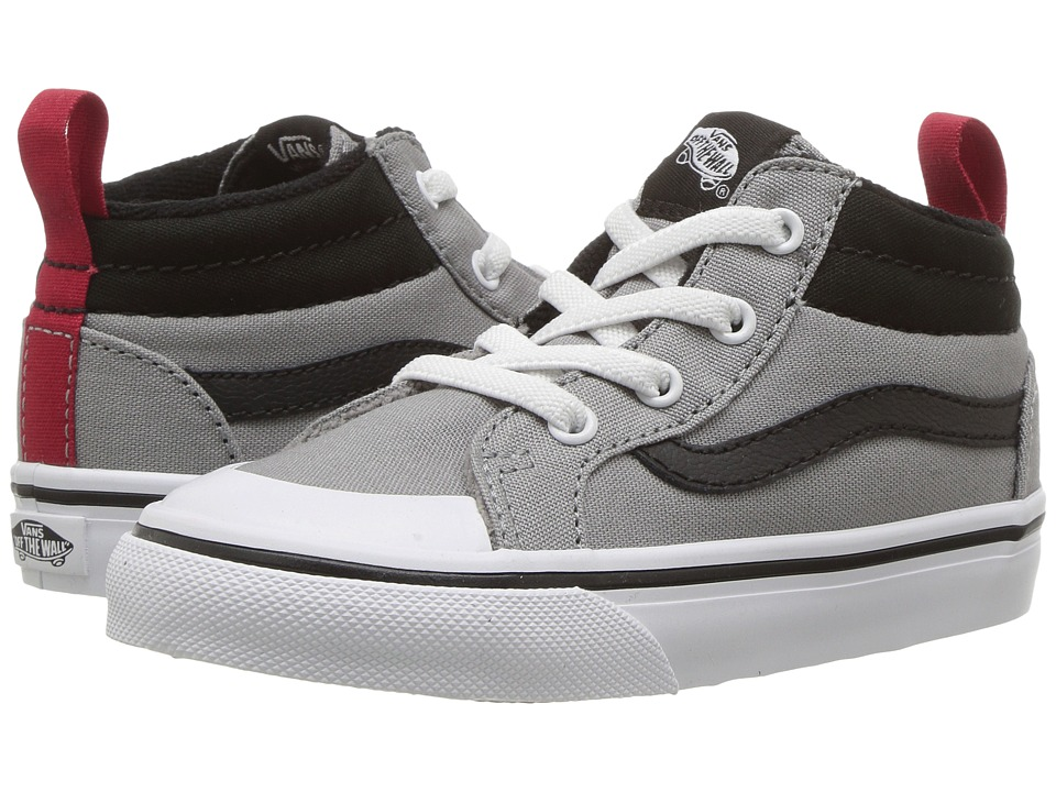 Vans Kids Racer Mid (Toddler) ((Canvas) Wild Dove/Black) Boys Shoes