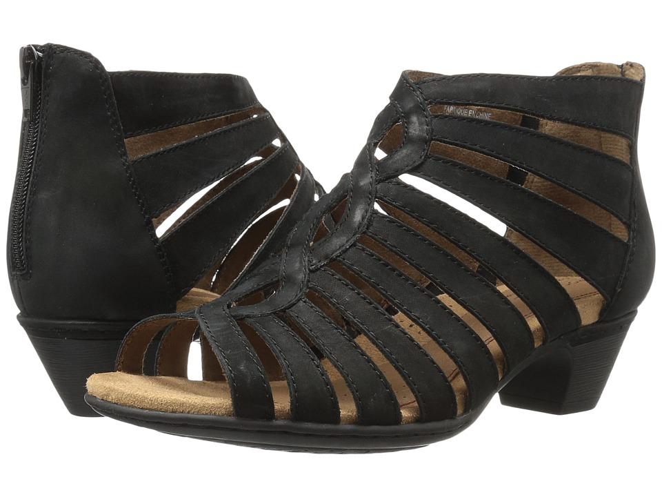 Rockport Cobb Hill Collection Cobb Hill Abbott Gladiator (Black Nubuck) Women's Shoes