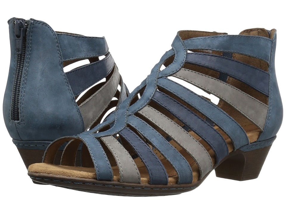Rockport Cobb Hill Collection Cobb Hill Abbott Gladiator (Blue Nubuck) Women
