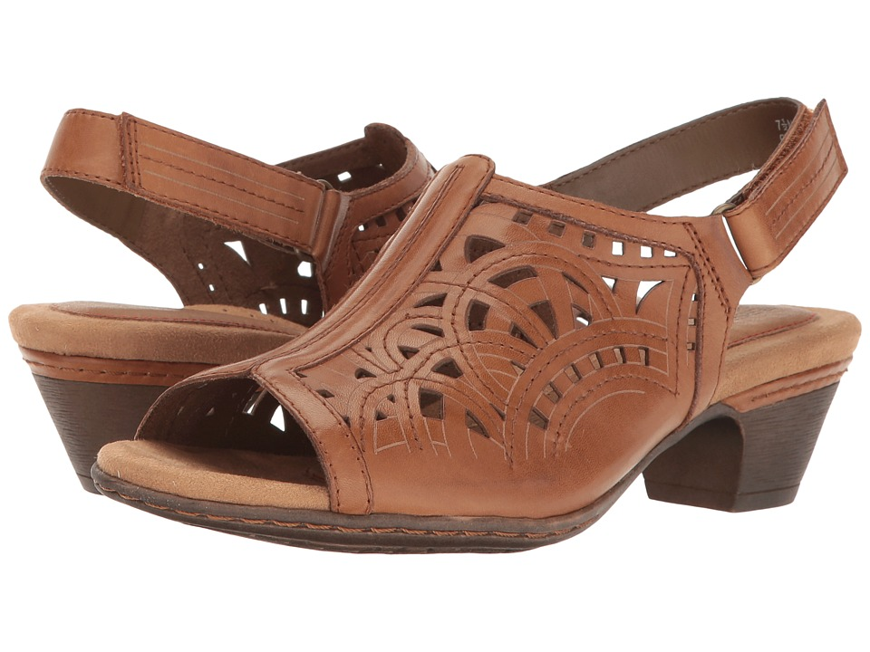 Rockport Cobb Hill Collection Cobb Hill Abbott Hi Vamp Sling (Tan Leather) Women