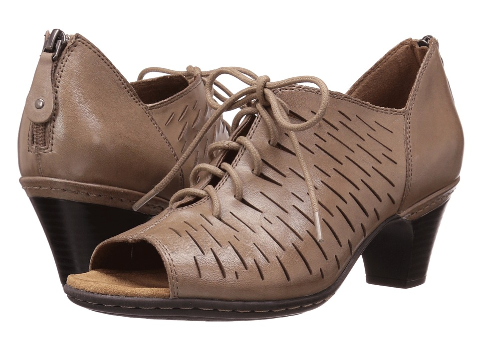 Rockport Cobb Hill Collection Cobb Hill Spencer Perforated Lace-Up (Khaki Leather) Women
