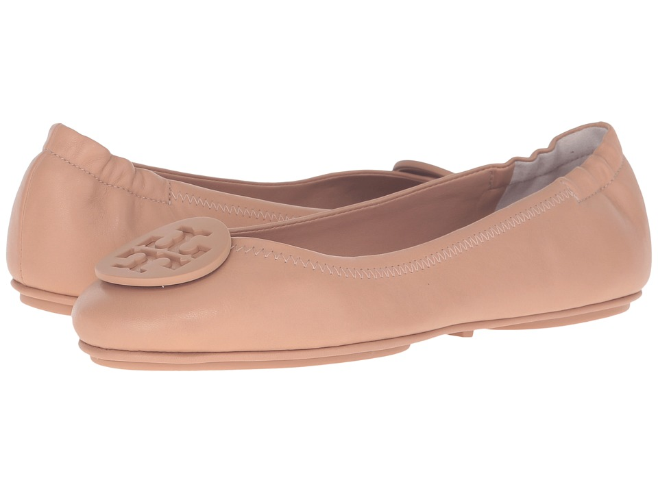 Tory Burch Minnie Travel Ballet (Light Oak) Women's Shoes