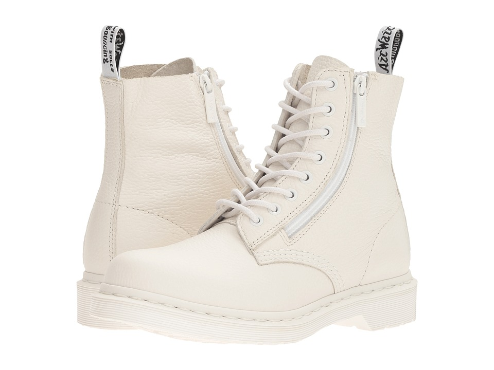 Dr Martens Pascal w/ Zip (White Aunt Sally) Women's Boots