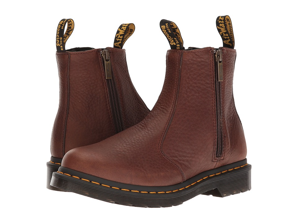 Dr. Martens 2976 w/ Zips (Dark Brown Grizzly) Women
