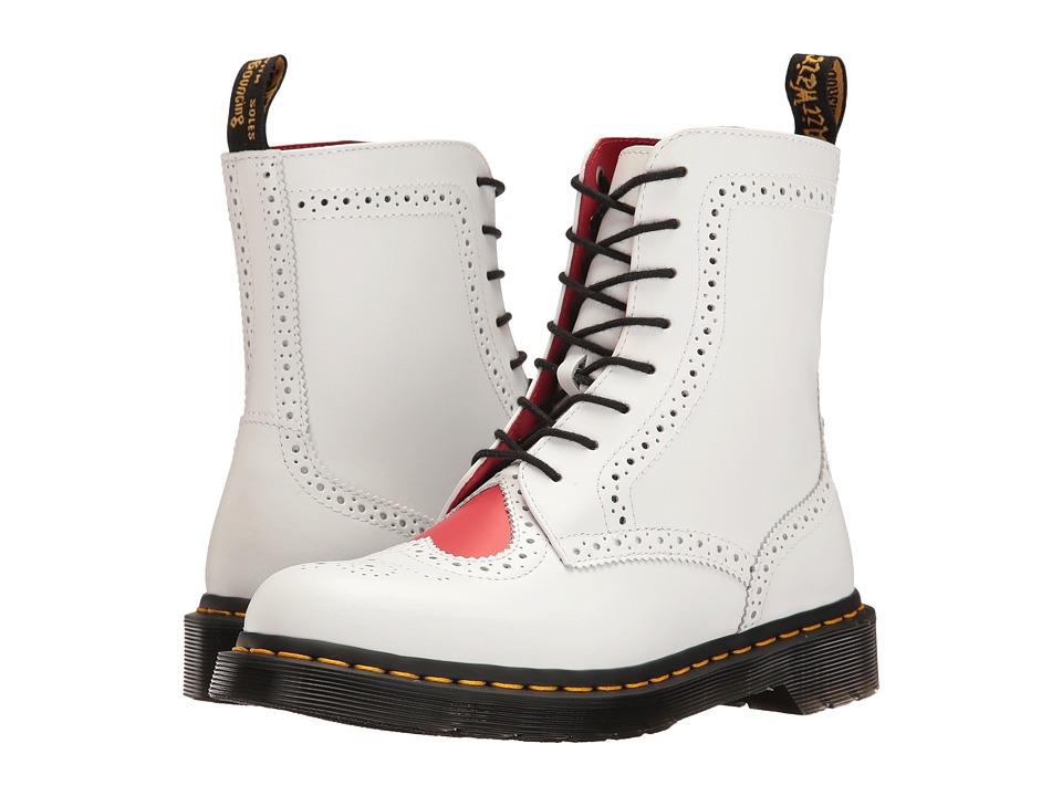 Dr. Martens Bentley II HRT (White/Heart Red Venice/Smooth) Women