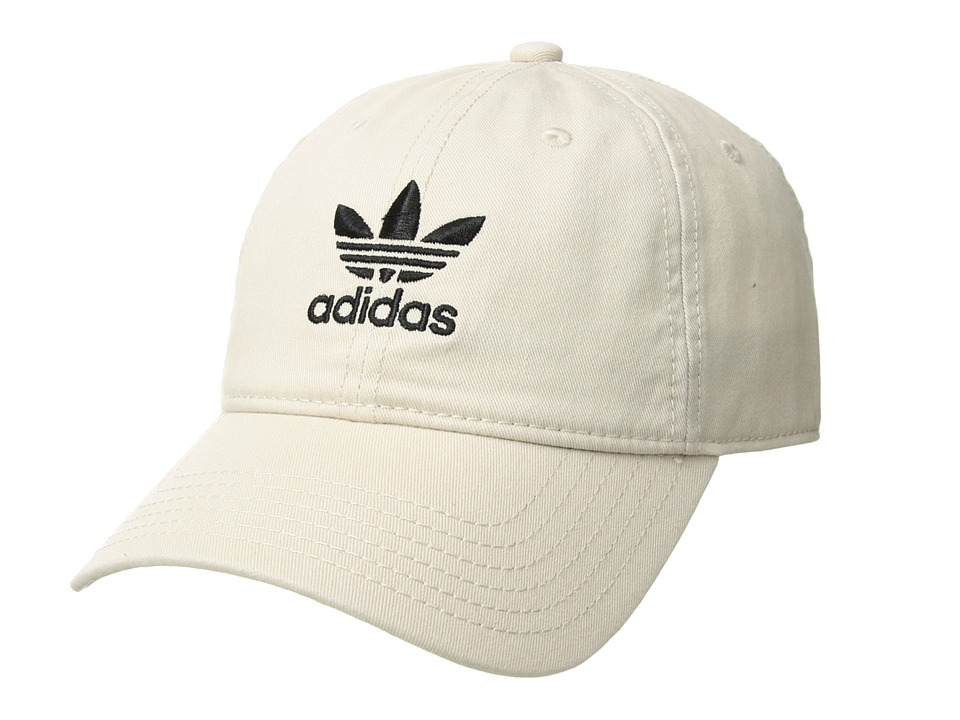 adidas Originals - Originals Relaxed Strapback Hat (Khaki/Black) Caps