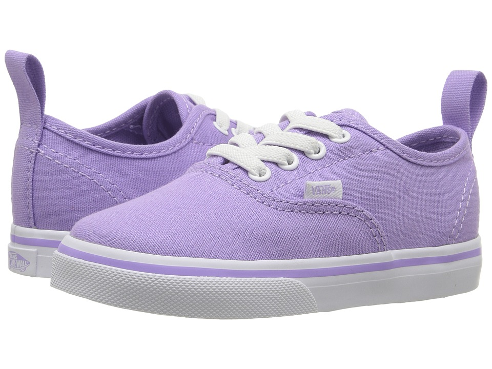 Vans Kids Authentic Elastic Lace (Toddler) (Lavender/True White) Girls Shoes