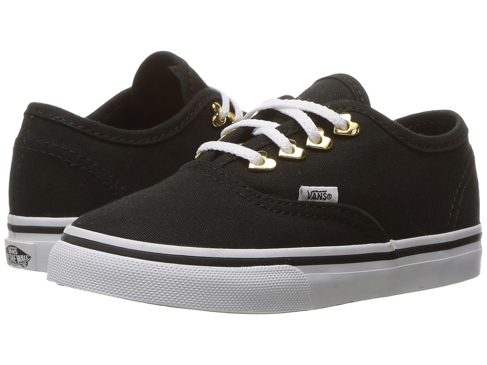 Vans Kids Authentic (Toddler) ((Eyelet) Hearts/Black) Girls Shoes