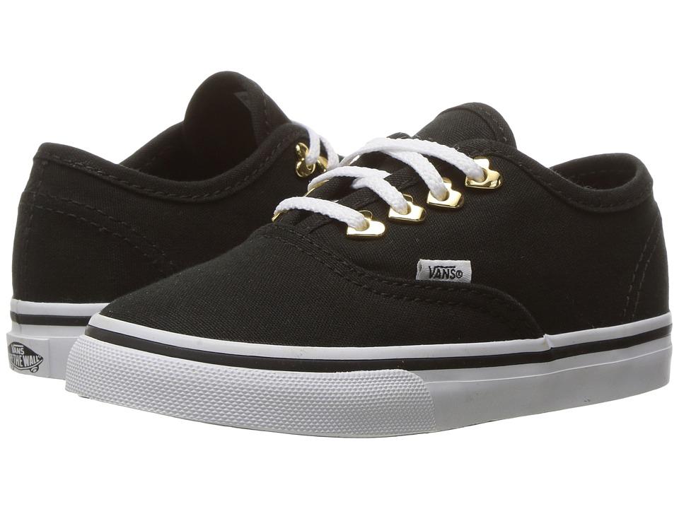 Vans Kids Authentic (Toddler) ((Eyelet) Hearts/Black) Girls Shoes