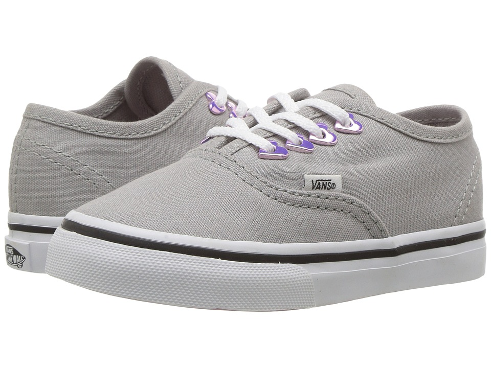 Vans Kids - Authentic (Toddler) ((Eyelet) Hearts/Grey) Girls Shoes