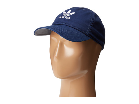 adidas Originals Relaxed Strapback Hat - Collegiate Navy/White