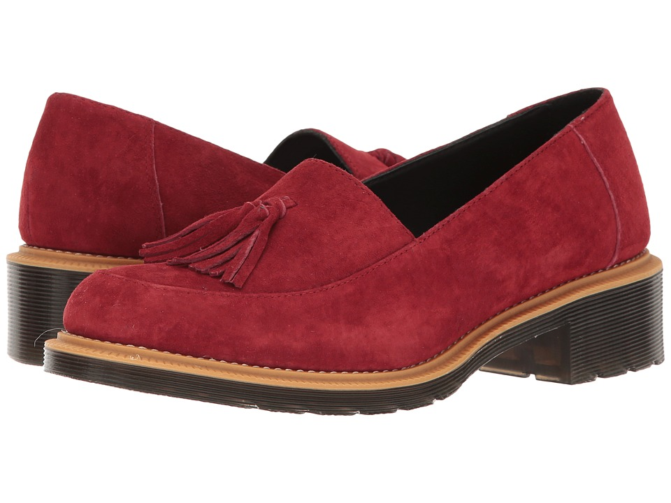 Dr. Martens Favilla II (Dark Red Soft Buck) Women