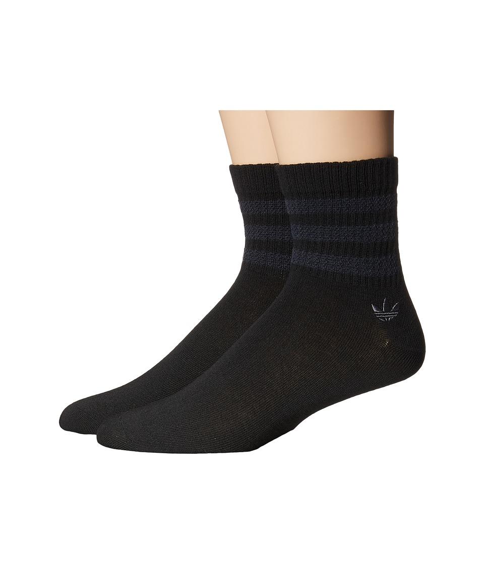 adidas - Originals Textured 3-Stripe Quarter Sock 2