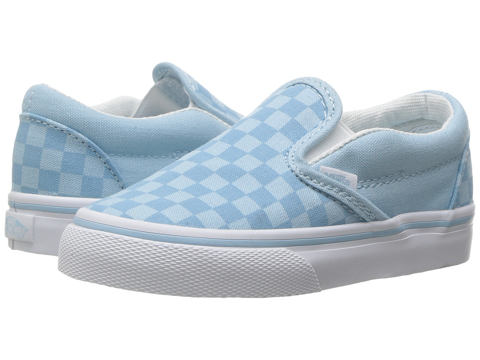 Vans Kids Classic Slip On Toddler Tonal Check Crystal Blue Girls Shoes